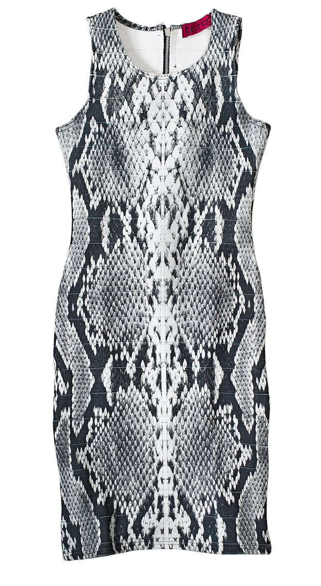 snakeskin-patterned-dress